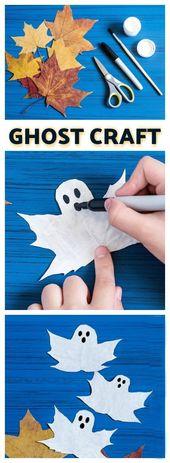 FUN KID PROJECT: Geisterblätter machen. (BOO-tiful Herbst Handwerk für Kinder)