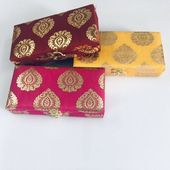 Indian Gift Box – Brocade Indian Wedding Return Favor – Cash Box – Jewelry Storage Box – Mehendi favor – Hindu Wedding – Christmas Gift Box