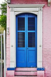 Blue Front Door New Orleans by Christine Till