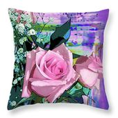 Pink Rose 1019 Throw Pillow for Sale by Corinne Carroll – 20″ x 14″