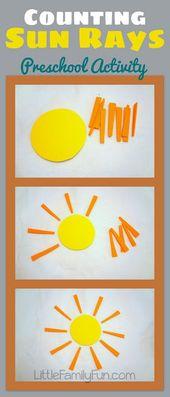 Eine lustige Art, mit Vorschulkindern Mathe zu üben und zu zählen!   – Summer For Kids Crafts & Ideas
