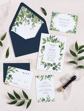 Umschläge für Hochzeitseinladungen – Grün Hochzeitsumschläge – Umschläge für Einladungen – Gefüttert E   – Einladungskarten