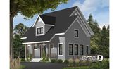 Color version 4 – Front of house plan 3519