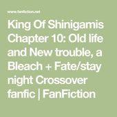 King Of Shinigamis Chapter 10 Old Life And New Trouble A Bleach Fate Stay Night Crossover Fanfic Fan Fate Stay Night Crossover Fate Stay Night Stay Night