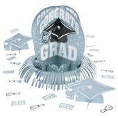 Silver Graduation Table Decorating Kit