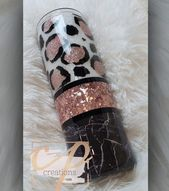 Rose gold and black marbled tumbler   – My Crafts