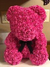 Online Shop 1pc 15cm 20cm 35cm Foam Rose Bear Mold Diy Artificial Rose Flower Bear Plastic Bear Roses Luck Dog Mol Foam Roses Artificial Roses Love Rose Flower