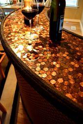 Wine Bar – Penny Top Home Bar – Serving Station – Home Bar – Custom Furniture