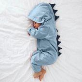 Neugeborenes Baby Strampler Junge Mädchen Weihnachten Dinosaurier mit Kapuze Strampler Overall Outfits ClothesToddler Baby Jungen Mädchen Baumwolle # BIL   – !Art Inspiration