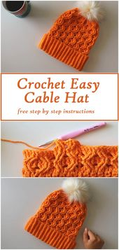 Crochet an Easy Cable Hat