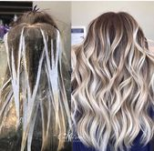 Painted balayage blonde over dark roots, #Balayage #Blonde #darkhairstyleswithhighl …