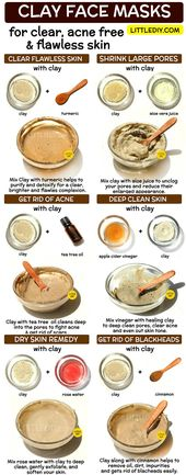 CLAY FACE MASK FOR CLEAR, ACNE FREE AND FLAWLESS SKIN