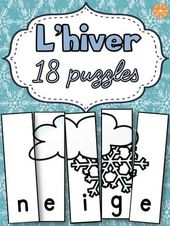 Winter – French Winter -18 Puzzles   – Maternelle