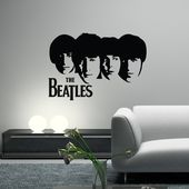 The Beatles Faces Wall Decal Music Band Group Wall Art Vinyl Mural Sticker