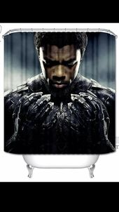 Black Panther Shower Curtain Home Decor Black Panther