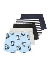 NAME IT Underpants 'NMMLOMUS 5P TIGHTS' Boys, Blue / Dark Blue / Gray / Black, Size 104
