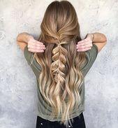 20 süße einfache Frisuren für langes Haar, #fri…