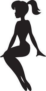 Image Result For Women Silhouette Sitting Vector Bolo Silhueta Bolo Com Plaquinhas Silhueta