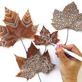 Wunderschöne Bastelideen für Blätter, die Sie ausprobieren müssen!   – Tolle Ideen zum Nachmachen