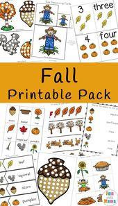 Herbst-Themen-Aktivitäten für Kinder – Free Printable Activities