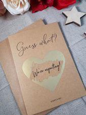 Schwangerschaftsmitteilungskarten für Ehemann, Schwangerschaftsmitteilungskarten für Großeltern, wir erwarten Karte, Schwangerschaftsmitteilung, PA63   – Baby