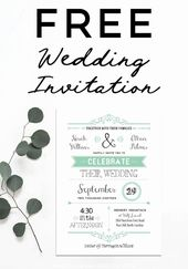 Download Wedding Invitation Templates Elegant Free Printable Wedding Invitation …