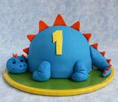 Selbst Dinosaurier backen – Rezept und Dekorationsideen für einen beeindruckenden Dino-Kuchen   – Fondant figurines!