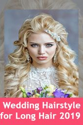 Cuttest Long Wedding Hairstyle for Womens with Round Face in 2019