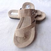 Linen woven slippers Men's slippers Beach slippers Summer slippers