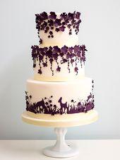 lila und weiße Hochzeitstorte ~ we ❤ this! moncheribridals.com #purplewedding …   – Wedding Cakes