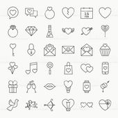 Valentine Day Line Icons Big Set. Vector Set of 36 Wedding Love…