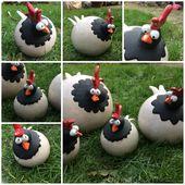 Hühner sind fertig #ceramic #ceramics #chicken #kippen #kip Erika Driesmans Http: …   – Beton