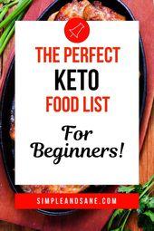 La liste d'épicerie ultime Keto pour perdre du poids avec le régime cétogène