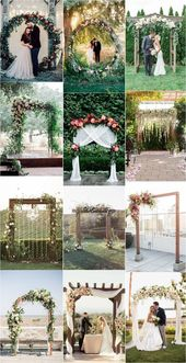 Hochzeitsbögen mit Blumen und Grün Ideen für Hochzeiten im Frühling und Sommer Wedding decorations