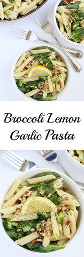 Broccoli Lemon Garlic Pasta