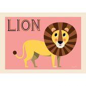 Poster Freundlicher Löwe von Ingela P. Arrhenius   – Львы,тигры