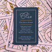 Illustrator Business Card Cleo Business Card   Business Card Design Inspiration