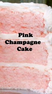 Pink Champagne Cake – Holiday Cakes