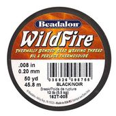 Wildfire Thermal Bonded Beading Thread .008 Zoll – Schwarz – 50 Yd