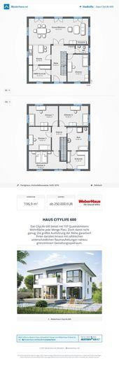 ▷ Haus CityLife 600 – WeberHaus – Grundriss Traumhaus