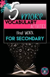 5 More Vocabulary Activities for Older Students | Reading and Writing Haven
