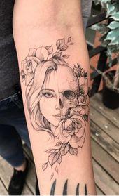 Mais de 150 tatuagens no antebraço para as meninas