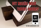 DIY Rustikal Mod Tablet Halter
