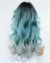 Eu morri por dentro quando vi isso tão bonito #blueombre   – blue ombre