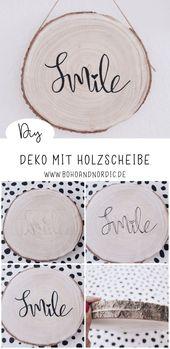 DIY Deko mit Holzscheibe – eine kreative Wanddeko zum Nachmachen – Ideen rund ums Haus