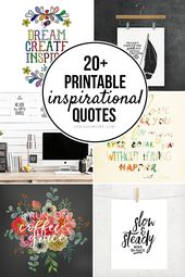 20+ Printable Inspirational Quotes