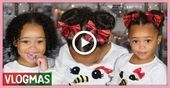 Ziya's Vacation Hairstyle! Curly hair routine for toddlers | Vlogmas Ep. 7 # kl#…