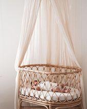 Un joli couffin pour votre nouveau-né! # bébé #bebe #child #berceau – #child #b …