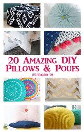 20 Amazing DIY Poufs & Pillows