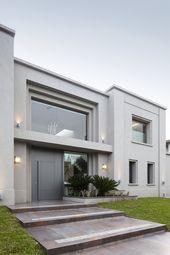Fachada Casa MSC Estilo Moderno del Estudio de Arquitectura Gamboa